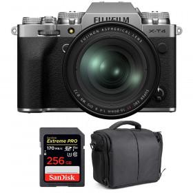 Fujifilm X-T4 Silver + XF 16-80mm f/4 R OIS WR + SanDisk 256GB UHS-I SDXC 170 MB/s + Bag | 2 Years Warranty