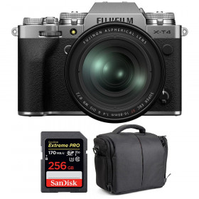 Fujifilm X-T4 Silver + XF 16-80mm f/4 R OIS WR + SanDisk 256GB UHS-I SDXC 170 MB/s + Bolsa