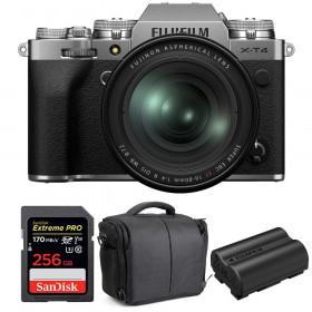 Fujifilm X-T4 Silver + XF 16-80mm f/4 R OIS WR + SanDisk 256GB UHS-I SDXC 170 MB/s + NP-W235 + Bolsa