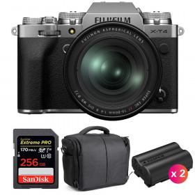 Fujifilm X-T4 Silver + XF 16-80mm f/4 R OIS WR + SanDisk 256GB UHS-I SDXC 170 MB/s + 2 NP-W235 + Bag | 2 Years Warranty