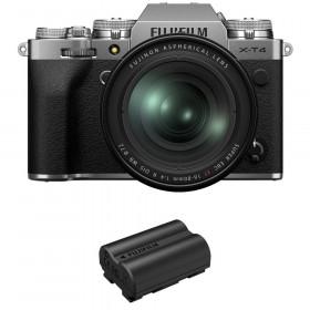 Fujifilm X-T4 Silver + XF 16-80mm f/4 R OIS WR + 1 Fujifilm NP-W235
