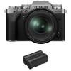 Fujifilm X-T4 Silver + XF 16-80mm f/4 R OIS WR + 1 Fujifilm NP-W235   2 Years Warranty