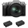 Fujifilm X-T4 Silver + XF 16-80mm f/4 R OIS WR + 2 Fujifilm NP-W235 | Garantie 2 ans