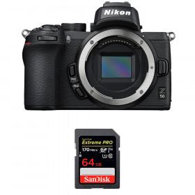 Nikon Z50 Body + SanDisk 64GB Extreme Pro UHS-I SDXC 170 MB/s | 2 Years Warranty
