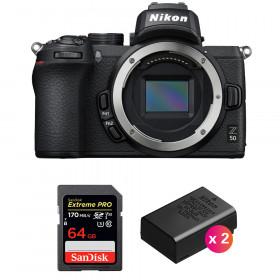 Nikon Z50 Body + SanDisk 64GB Extreme Pro UHS-I SDXC 170 MB/s + 2 Nikon EN-EL25 | 2 Years Warranty