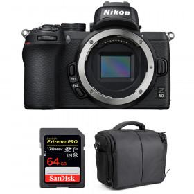 Nikon Z50 Body + SanDisk 64GB Extreme Pro UHS-I SDXC 170 MB/s + Bag | 2 Years Warranty