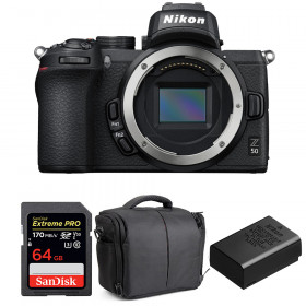 Nikon Z50 Body + SanDisk 64GB Extreme Pro UHS-I SDXC 170 MB/s + Nikon EN-EL25 + Bag | 2 Years Warranty