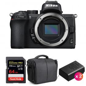 Nikon Z50 Nu + SanDisk 64GB Extreme Pro UHS-I SDXC 170 MB/s + 2 Nikon EN-EL25 + Sac