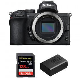 Nikon Z50 Body + SanDisk 128GB Extreme Pro UHS-I SDXC 170 MB/s + Nikon EN-EL25 | 2 Years Warranty