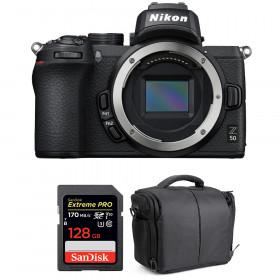 Nikon Z50 Body + SanDisk 128GB Extreme Pro UHS-I SDXC 170 MB/s + Bag | 2 Years Warranty