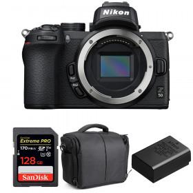 Nikon Z50 Body + SanDisk 128GB Extreme Pro UHS-I SDXC 170 MB/s + Nikon EN-EL25 + Bag | 2 Years Warranty