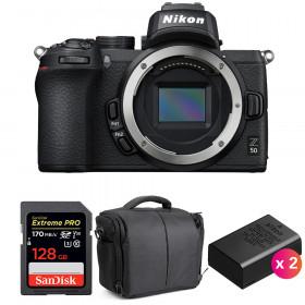 Nikon Z50 Nu + SanDisk 128GB Extreme Pro UHS-I SDXC 170 MB/s + 2 Nikon EN-EL25 + Sac