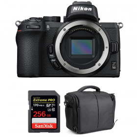 Nikon Z50 Body + SanDisk 256GB Extreme Pro UHS-I SDXC 170 MB/s + Bag | 2 Years Warranty