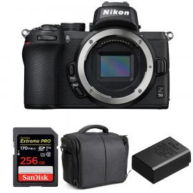 Nikon Z50 Nu + SanDisk 256GB Extreme Pro UHS-I SDXC 170 MB/s + Nikon EN-EL25 + Sac