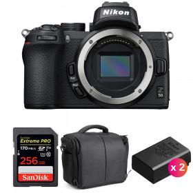 Nikon Z50 Nu + SanDisk 256GB Extreme Pro UHS-I SDXC 170 MB/s + 2 Nikon EN-EL25 + Sac