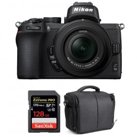 Nikon Z50 + 16-50mm f/3.5-6.3 VR + SanDisk 128GB Extreme Pro UHS-I SDXC 170 MB/s + Bag | 2 Years Warranty
