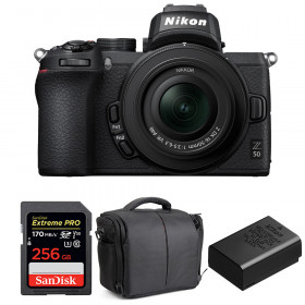 Nikon Z50 + 16-50mm f/3.5-6.3 VR + SanDisk 256GB Extreme Pro UHS-I SDXC 170 MB/s + Nikon EN-EL25 + Bag | 2 Years Warranty