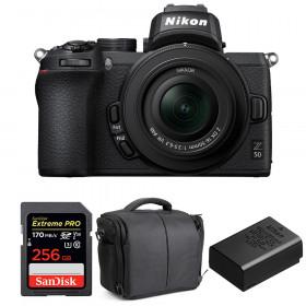 Nikon Z50 + 16-50mm f/3.5-6.3 VR + SanDisk 256GB Extreme Pro UHS-I SDXC 170 MB/s + Nikon EN-EL25 + Sac