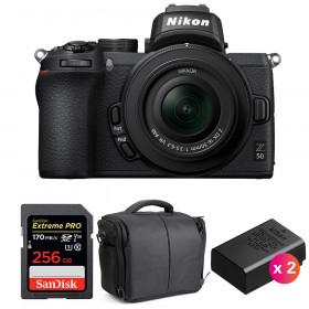 Nikon Z50 + 16-50mm f/3.5-6.3 VR + SanDisk 256GB Extreme Pro UHS-I SDXC 170 MB/s + 2 Nikon EN-EL25 + Sac