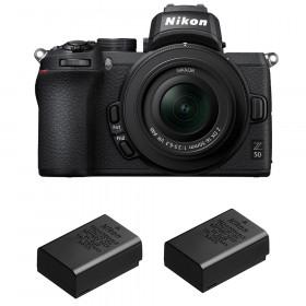 Nikon Z50 + 16-50mm f/3.5-6.3 VR + 2 Nikon EN-EL25