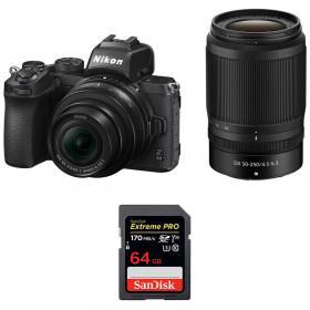 Nikon Z50 + 16-50mm + 50-250mm + SanDisk 64GB Extreme Pro UHS-I SDXC 170 MB/s
