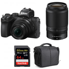 Nikon Z50 + 16-50mm + 50-250mm + SanDisk 64GB Extreme Pro UHS-I SDXC 170 MB/s + Bag | 2 Years Warranty