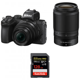Nikon Z50 + 16-50mm + 50-250mm + SanDisk 128GB Extreme Pro UHS-I SDXC 170 MB/s | 2 Years Warranty