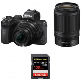 Nikon Z50 + 16-50mm + 50-250mm + SanDisk 128GB Extreme Pro UHS-I SDXC 170 MB/s