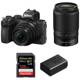Nikon Z50 + 16-50mm + 50-250mm + SanDisk 128GB Extreme Pro UHS-I SDXC 170 MB/s + Nikon EN-EL25