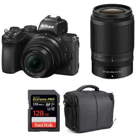Nikon Z50 + 16-50mm + 50-250mm + SanDisk 128GB Extreme Pro UHS-I SDXC 170 MB/s + Sac