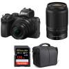Nikon Z50 + 16-50mm + 50-250mm + SanDisk 128GB Extreme Pro UHS-I SDXC 170 MB/s + Bag | 2 Years Warranty