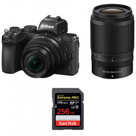 Nikon Z50 + 16-50mm + 50-250mm + SanDisk 256GB Extreme Pro UHS-I SDXC 170 MB/s | 2 Years Warranty