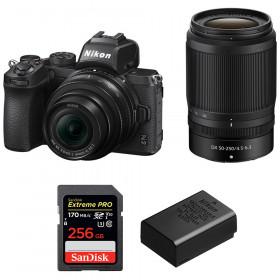 Nikon Z50 + 16-50mm + 50-250mm + SanDisk 256GB Extreme Pro UHS-I SDXC 170 MB/s + Nikon EN-EL25
