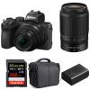 Nikon Z50 + 16-50mm + 50-250mm + SanDisk 256GB Extreme Pro UHS-I SDXC 170 MB/s + Nikon EN-EL25 + Bag   2 Years Warranty