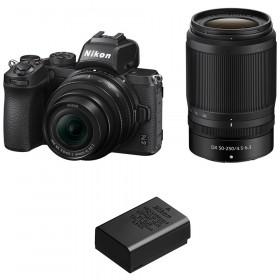Nikon Z50 + 16-50mm + 50-250mm + 1 Nikon EN-EL25