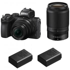 Nikon Z50 + 16-50mm + 50-250mm + 2 Nikon EN-EL25