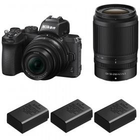 Nikon Z50 + 16-50mm + 50-250mm + 3 Nikon EN-EL25
