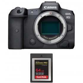 Canon EOS R5 Body + SanDisk 64GB Extreme PRO CFexpress Type B   2 Years warranty