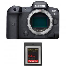 Canon EOS R5 Cuerpo + SanDisk 64GB Extreme PRO CFexpress Type B | 2 años de garantía