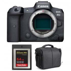 Canon EOS R5 Body + SanDisk 64GB Extreme PRO CFexpress Type B + Bag   2 Years warranty