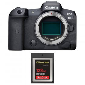 Canon EOS R5 Body + SanDisk 128GB Extreme PRO CFexpress Type B   2 Years warranty