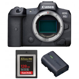 Canon EOS R5 Body + SanDisk 128GB Extreme PRO CFexpress Type B + Canon LP-E6NH   2 Years warranty