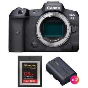 Canon EOS R5 Cuerpo + SanDisk 128GB Extreme PRO CFexpress Type B + 2 Canon LP-E6NH | 2 años de garantía