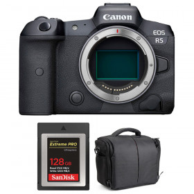 Canon EOS R5 Body + SanDisk 128GB Extreme PRO CFexpress Type B + Bag   2 Years warranty