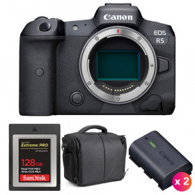 Canon EOS R5 Cuerpo + SanDisk 128GB Extreme PRO CFexpress Type B + 2 Canon LP-E6NH + Bolsa | 2 años de garantía