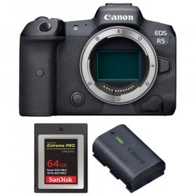 Canon EOS R5 Body + SanDisk 64GB Extreme PRO CFexpress Type B + Canon LP-E6NH   2 Years warranty