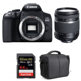 Canon EOS 850D + Tamron 18-270mm f/3.5-6.3 Di II VC PZD + SanDisk 64GB UHS-I SDXC 170 MB/s + Bag | 2 Years Warranty