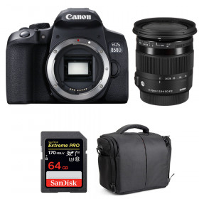 Canon EOS 850D + Sigma 17-70mm f/2.8-4 DC Macro OS HSM C + SanDisk 64GB UHS-I SDXC 170 MB/s + Bag | 2 Years Warranty