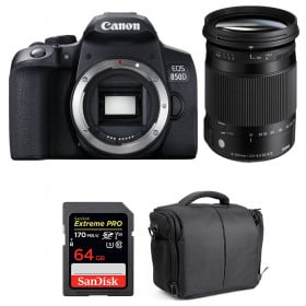 Canon EOS 850D + Sigma 18-300mm f/3.5-6.3 DC Macro OS HSM C + SanDisk 64GB UHS-I SDXC 170 MB/s + Bag | 2 Years Warranty