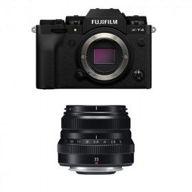 Fujifilm X-T4 Black + XF 35mm f/2 R WR Black | 2 Years Warranty